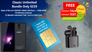 The Classic Phone Bundle w/ 1 Year FREE Unlimited Talk, Text and 2GB per Month Data
