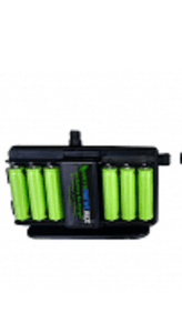 Disposable Fixed Anode Saltwater Battery Charger Eqivilent to 200 AA Batteries Total of 100,000 MAH