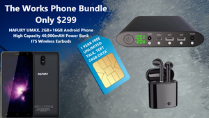 The Works Phone Bundle w/ FREE 1 Year Unlimited Talk, Text and 2GB Per Month Data