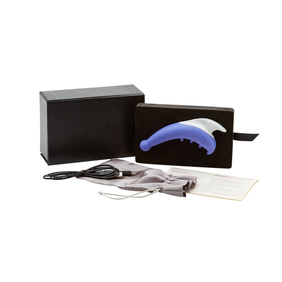 Black box which includes purple vibrator