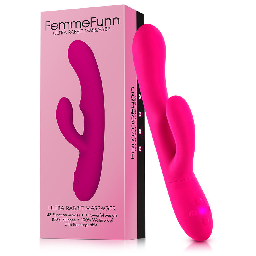 Pink vibrator sitting next to box