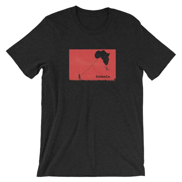 Inspirational-Africa Kite T-Shirt-Black Heather-XS-StolenCompany