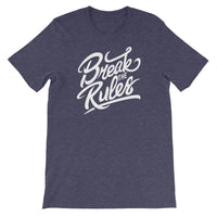 Inspirational-Break The Rules T-Shirt-Heather Midnight Navy-XS-StolenCompany