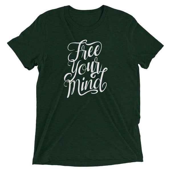 Inspirational-Free Your Mind T-Shirt-Emerald Triblend-XS-StolenCompany