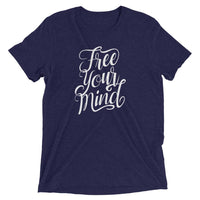 Inspirational-Free Your Mind T-Shirt-Navy Triblend-XS-StolenCompany