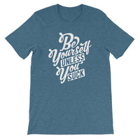 Inspirational-Men's Be Yourself T-Shirt-Heather Deep Teal-S-StolenCompany