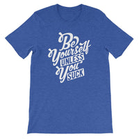 Inspirational-Men's Be Yourself T-Shirt-Heather True Royal-S-StolenCompany
