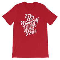 Inspirational-Men's Be Yourself T-Shirt-Red-S-StolenCompany
