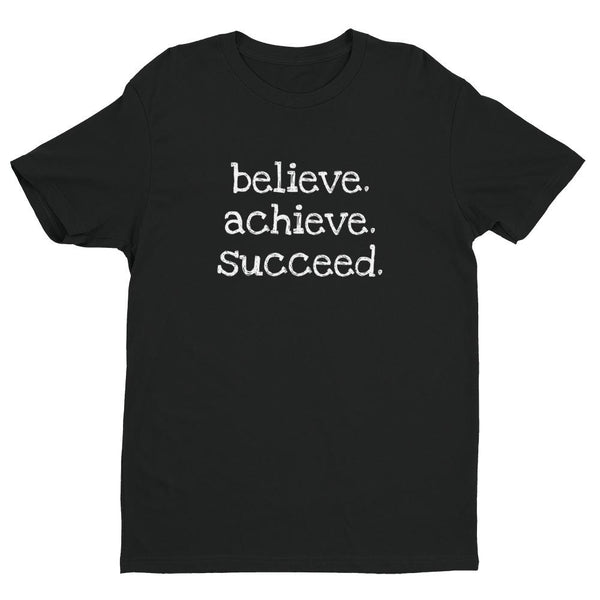 Inspirational-Men's Believe. Achieve. Succeed. T-Shirt-Black-XS-StolenCompany