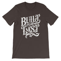 Inspirational-Men's Built To Last T-Shirt-Brown-S-StolenCompany