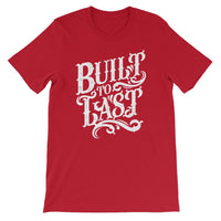 Inspirational-Men's Built To Last T-Shirt-Red-S-StolenCompany