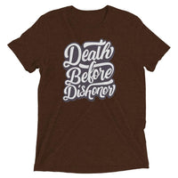 Inspirational-Men's Death Before Dishonor T-Shirt-Brown Triblend-XS-StolenCompany