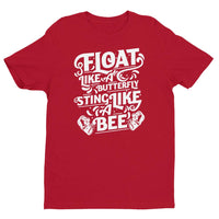 Inspirational-Men's Float Like A Butterfly T-shirt-Red-XS-StolenCompany