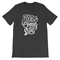 Inspirational-Men's Here Come The Sun T-Shirt-Dark Grey Heather-XS-StolenCompany