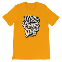 Inspirational-Men's Here Come The Sun T-Shirt-Gold-S-StolenCompany