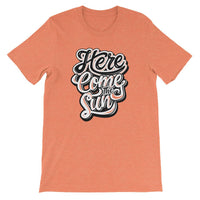Inspirational-Men's Here Come The Sun T-Shirt-Heather Orange-S-StolenCompany
