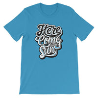 Inspirational-Men's Here Come The Sun T-Shirt-Ocean Blue-S-StolenCompany