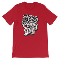 Inspirational-Men's Here Come The Sun T-Shirt-Red-S-StolenCompany