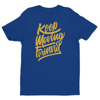 Inspirational-Men's Keep Moving Forward T-shirt-Royal Blue-XS-StolenCompany