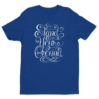 Inspirational-Men's Stand Your Ground T-shirt-Royal Blue-XS-StolenCompany