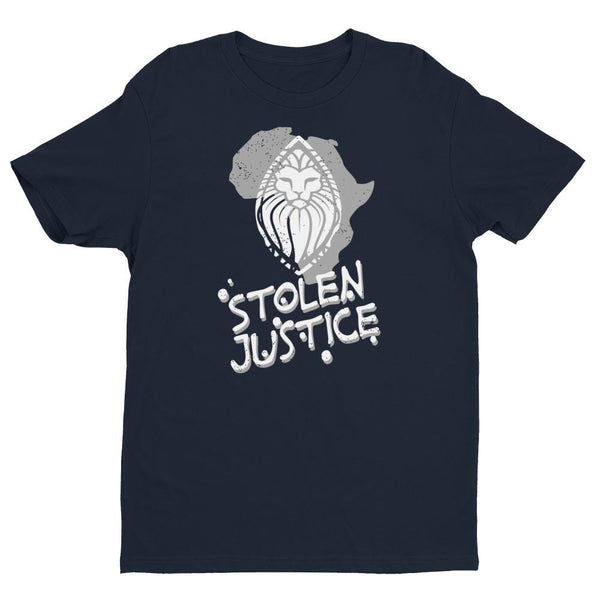 Inspirational-Men's Stolen Justice Lion Shield T-Shirt-Midnight Navy-XS-StolenCompany