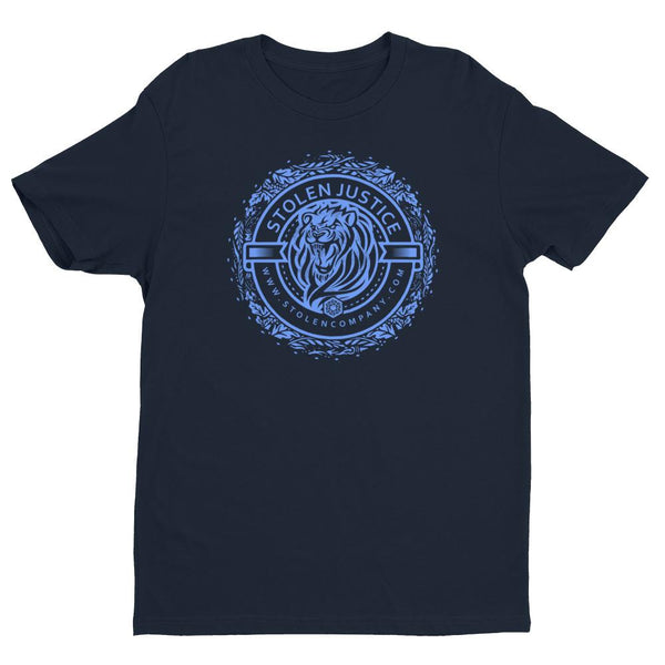 Inspirational-Men's Stolen Justice Lion T-Shirt-Midnight Navy-XS-StolenCompany