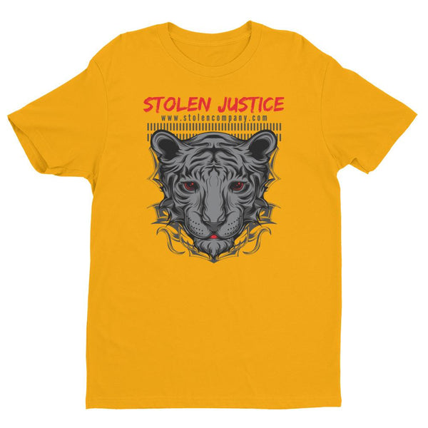 Inspirational-Men's Stolen Justice Red Eye T-shirt-Gold-XS-StolenCompany