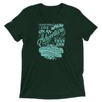Inspirational-On An Adventure T-Shirt-Emerald Triblend-XS-StolenCompany