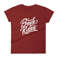 Inspirational-Women's Break The Rules T-Shirt-Independence Red-S-StolenCompany