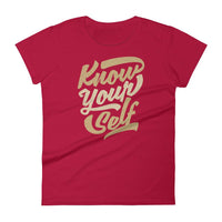 Inspirational-Women's Know Yourself T-Shirt-Red-S-StolenCompany