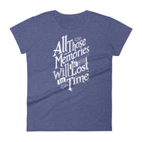 Inspirational-Women's Memories T-Shirt-Heather Blue-S-StolenCompany