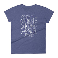 Inspirational-Women's Stand Your Ground T-Shirt-Heather Blue-S-StolenCompany