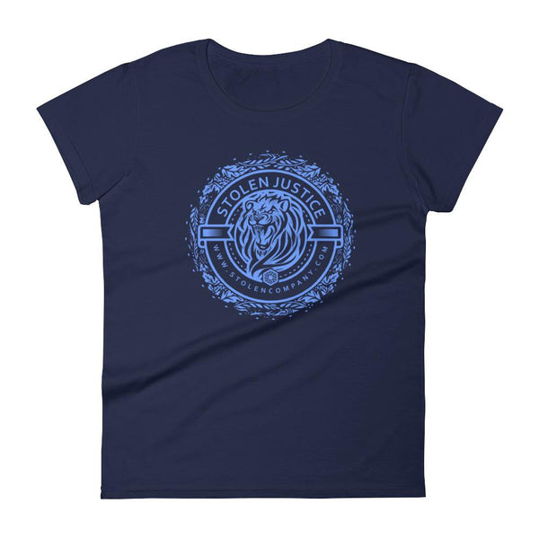 Inspirational-Women's Stolen Justice Lion T-Shirt-Navy-S-StolenCompany