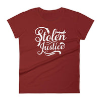 Inspirational-Women's Stolen Justice T-Shirt-Independence Red-S-StolenCompany