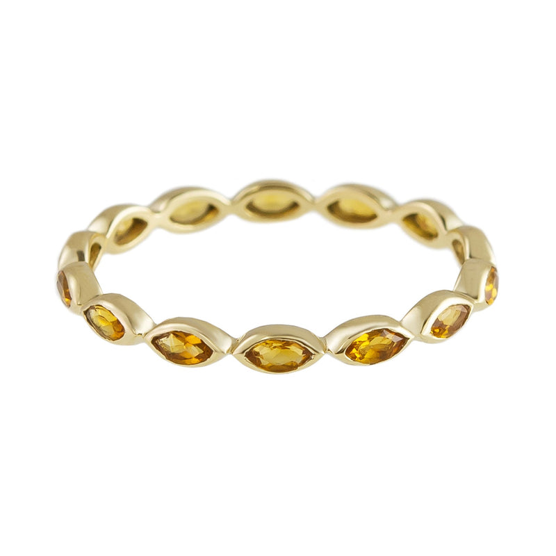 Citrine Eternity Ring