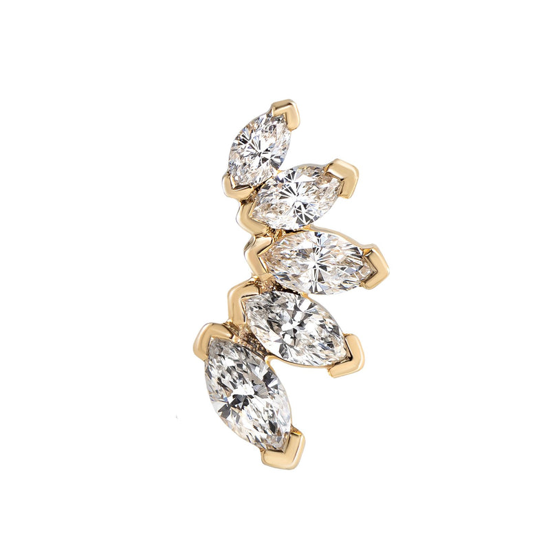 METIER BY TOMFOOLERY: MARQUISE DIAMOND STUDS