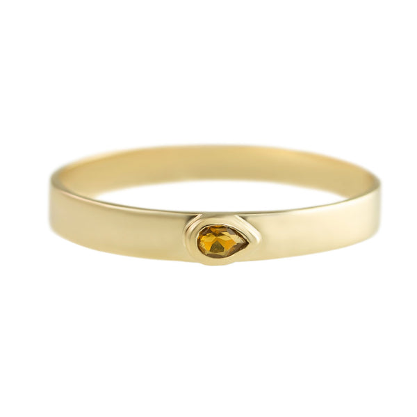Citrine Flat Stacking Bands