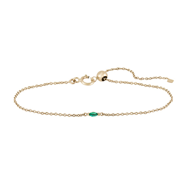 Marquise Gemstone Adjustable Bracelet