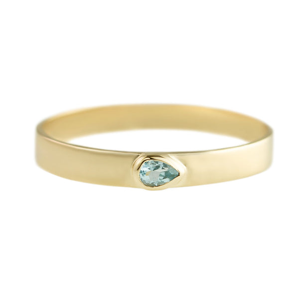 Blue Topaz Flat Stacking Bands