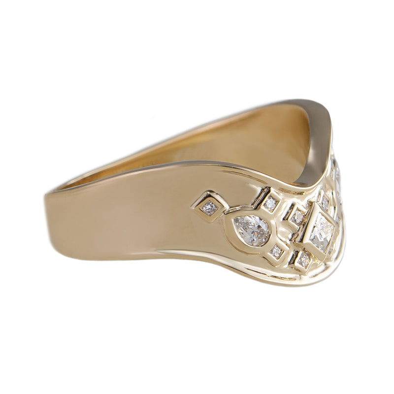 Metier by tomfoolery: wide shaped diamond ring ing