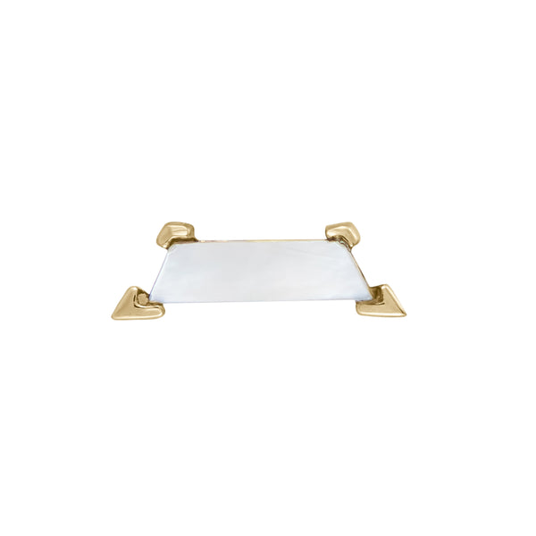 Mother of Pearl Claw Trapezoid Stud mother of pearl