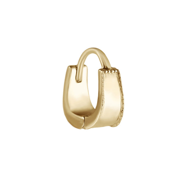 Metier by tomfoolery Mini Dala Milgrain Cuff Huggies 9ct Yellow Gold