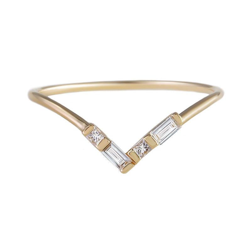 metier by tomfoolery: Baguette Diamond Halo Ring