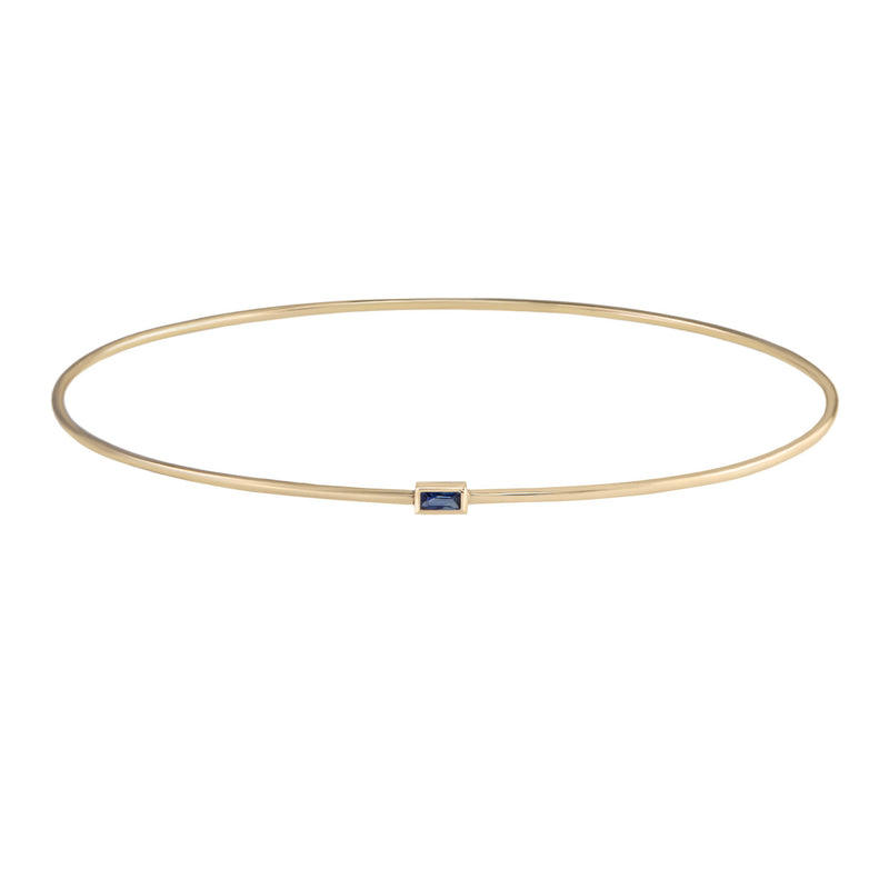 métier by tomfoolery: Single gemstone bangle