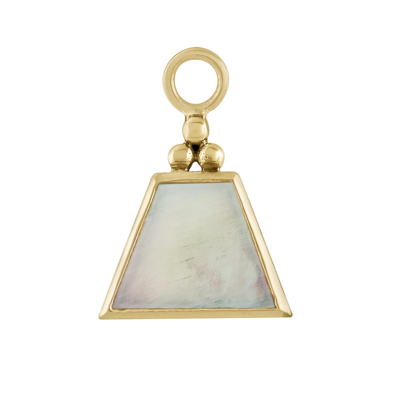 metier by tomfoolery mother of pearl short trapezoid plaque on chain mood from first love collection