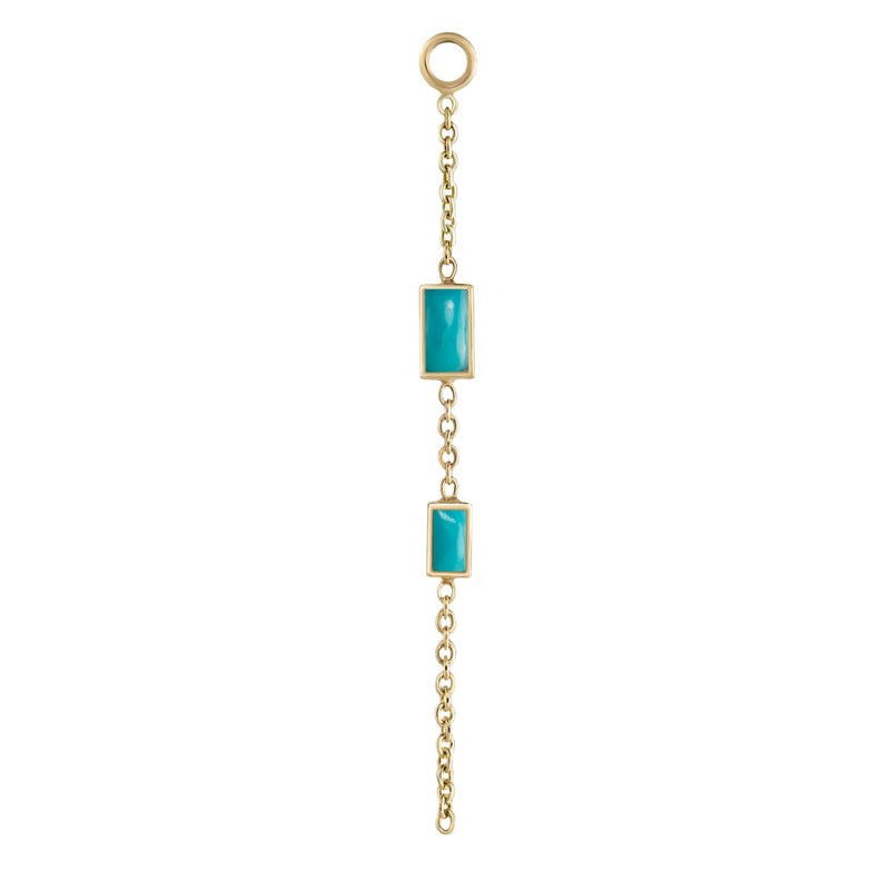 metier by tomfoolery: double gemstone bageutte chain