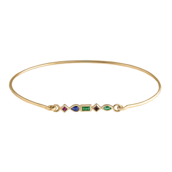 metier by tomfoolery: Mixed Cut Gemstone Cuff Bracelet