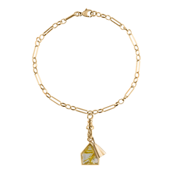 metier by tomfoolery: Eiffel Chain Bracelet With Maison and Bell Plaques
