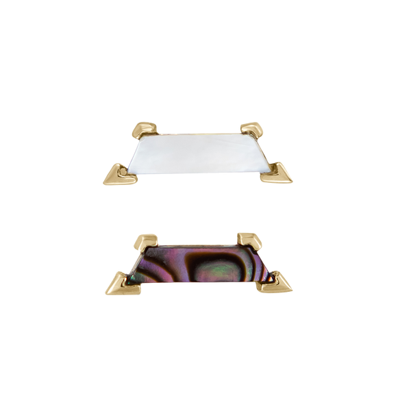 metier by tomfoolery: Mother of Pearl Claw Trapezoid Stud