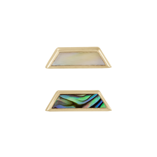 metier by tomfoolery: Mother of Pearl Trapezoid Stud